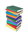 Book pile in color Stock Photography