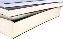 Book pile isolated Royalty Free Stock Photos