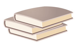 Book Pile / Stack. A pile of books stacked vertically. None of the spines are showing Royalty Free Stock Image