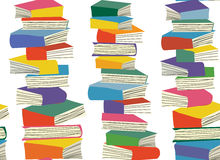 Book piles seamless  pattern Royalty Free Stock Photography