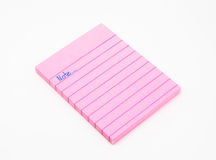 Book of Pink Note Paper Stock Photography