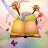 Book and planet Royalty Free Stock Photos