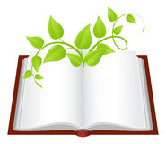 Book with plant Stock Photography