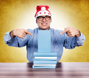 Book pointing Royalty Free Stock Image