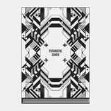 Book/poster/magazine cover template with abstract symmetric elements Stock Image