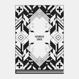 Book/poster/magazine cover template with abstract symmetric elements Stock Photo