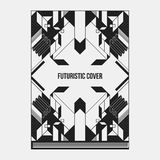 Book/poster/magazine cover template with abstract symmetric elements Royalty Free Stock Image