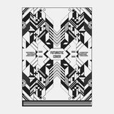 Book/poster/magazine cover template with abstract symmetric elements Stock Images