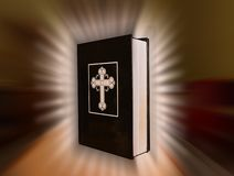 Book of prayers on a background of sunshine royalty free stock photos