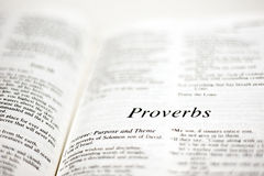 Book of Proverbs Royalty Free Stock Photo