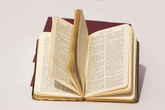 Book of psalms. Open pages of the book of psalms Stock Photos