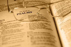 The Book of Psalms Stock Image