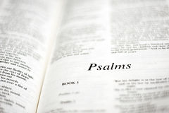 Book of Psalms Stock Image