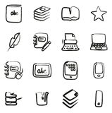 Book Publishing Icons Freehand royalty free illustration