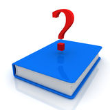 Book and question mark. 3D render Stock Photos