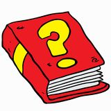 Book with question mark Stock Image