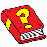 Book with question mark Royalty Free Stock Photography