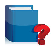 Book and question mark illustration design Royalty Free Stock Images