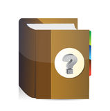 Book with question mark illustration design Royalty Free Stock Image