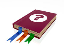 Book with question mark Stock Photo