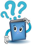 Book with Question Marks Stock Photo
