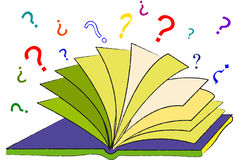 The Book of Questions. The open book of questions to ask Royalty Free Illustration