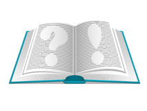 Book of questions and answers Royalty Free Stock Images