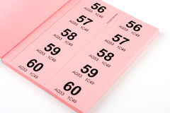 Book of Raffle Tickets royalty free stock photography