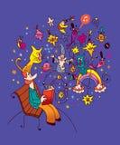Book reader. Imagination, literature illustration Royalty Free Stock Photos