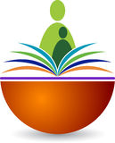 Book reader logo Stock Image