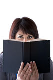 Book Reader Peeking Royalty Free Stock Images