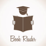 Book Reader Sign. Vector illustration of the Book Reader Sign Royalty Free Stock Photography