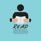 Book Reader. Royalty Free Stock Photography