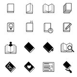Book and reading icons set vector illustration Royalty Free Stock Photo