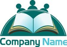 Book reading logo Stock Photo