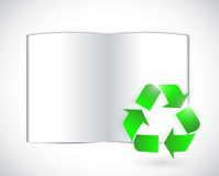 Book and recycle symbol illustration design Stock Image