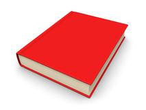 Book with a red cover. 3d rendering Royalty Free Stock Photography