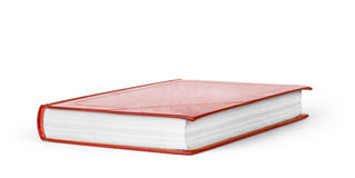 Book red on white background Stock Photos