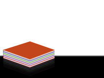 Book with reflection. Hardback book illustration with colored pages Stock Image