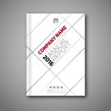Book report 2016 7. Annual report flyer, Cover report geometric shapes design background,  illustration Royalty Free Stock Images