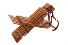 Book rest for Koran with wooden rosary Royalty Free Stock Photography