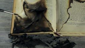 Book restoration stock video