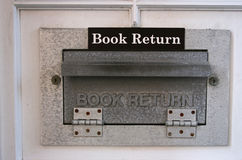 Book Return Chute. Close-up of library book return chute Royalty Free Stock Photography