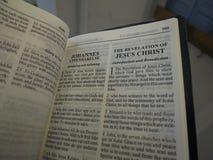 Book of Revelation. Aka Apocalypse or Revelation of John in Swedish and English Royalty Free Stock Photography