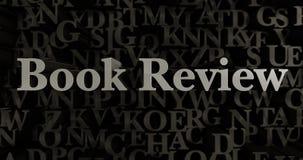 Book Review - 3D rendered metallic typeset headline illustration Stock Photo