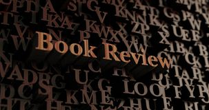 Book Review - Wooden 3D rendered letters/message Royalty Free Illustration