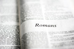 Book of Romans Royalty Free Stock Photography