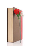 Book And A Rose Stock Photo