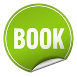 Book sticker. Book round sticker isolated on wite background. book Royalty Free Stock Image