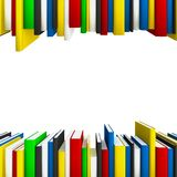 Book rows as frame Stock Image